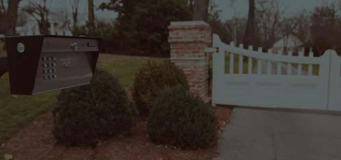 Landscaped Entry Gate