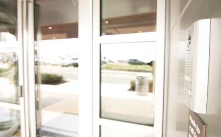 Access Controlled Glass Doors