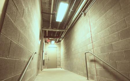 CCTV in Commercial Hallway with Access Control Systems
